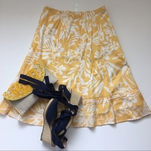 Chico's floral print A line skirt